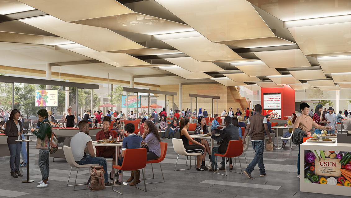 Rendering of Proposed USU Expansion Dining and Entertainment Area